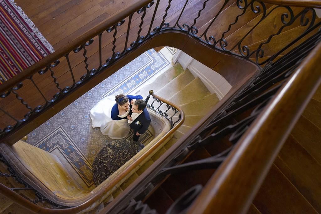 mariage escalier