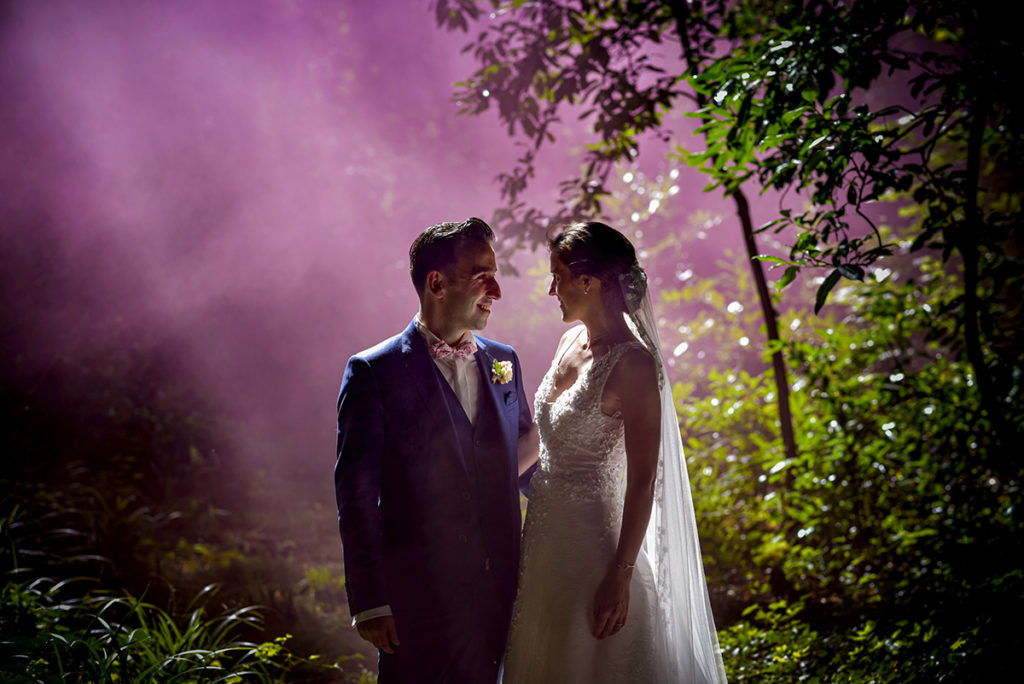 mariage fumigènes